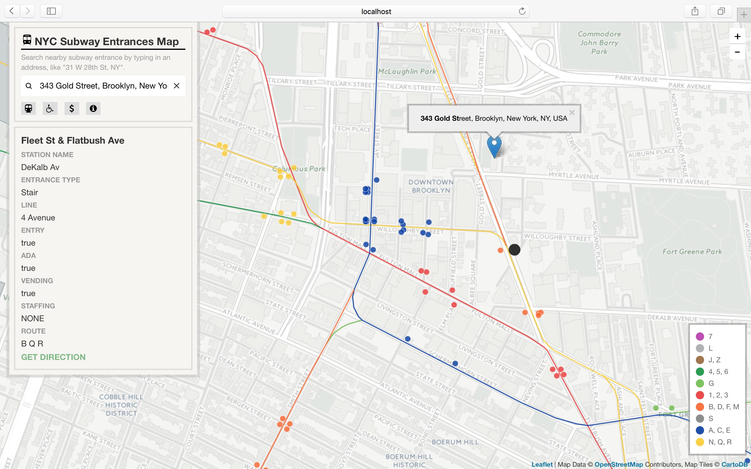 Subway Entrance Map